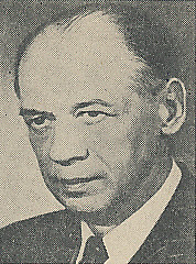 Author photo. Cropped scan of back cover of Penguin No.710 (unattributed image).