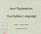 The Klallam Language - Draft - January 2007…