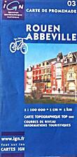 Rouen - Abbeville. Carte de promenade…