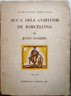 Auca dels Costums de Barcelona by Joan…