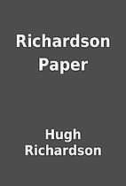Richardson Paper by Hugh Richardson