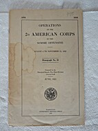 Operations of the 2nd American Army Corps in…