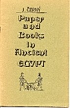 Paper and Books in Ancient Egypt an…