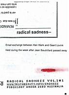 Radical sadness #1 by Ken Wark