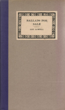 Ballads for Sale by Amy Lowell