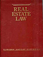 Real estate law by Frank F Gibson