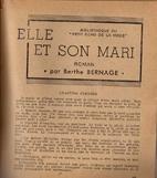 Elle et son mari: roman by Berthe Bernage