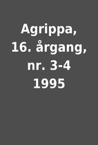 Agrippa, 16. årgang, nr. 3-4 1995