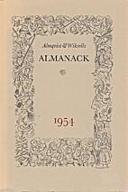Almqvist & Wiksells Almanack 1954