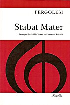 Stabat Mater [vocal score, mixed voices] by…