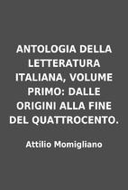 ANTOLOGIA DELLA LETTERATURA ITALIANA, VOLUME…