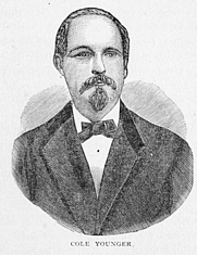Author photo. Image from <b><i>Outlaws of the border : a complete and authentic history of the lives of Frank and Jesse James, the Younger brothers, and their robber companions...</i></b> (1882) by Jay Donald