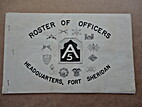 Roster of Officers, Headquarters, Fort…