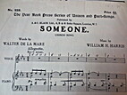 Someone: Unison Song by William H. Harris
