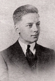 Author photo. From his high school yearbook, 1937