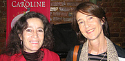 Author photo. Novelists Leora Skolkin-Smith and Roxana Robinson (right) <br>run into each other at the 2006 GalleyCat holiday party<br>Copyright © 2006 <a href=&quot;http://ronhogan.tumblr.com&quot;>Ron Hogan</a>