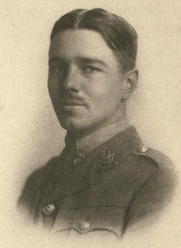 Author photo. Image from <b><i>Poems</i></b> (1920) by Wilfred Owen