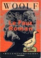The False Novel by Virginia Woolf