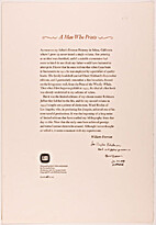 A Man Who Prints by William Everson