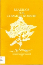 Readings for Common Worship by Unitarian…