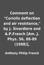 Comment on Coriolis deflection and air…