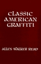 Classic American graffiti : lexical evidence…