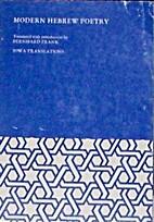 Modern Hebrew Poetry (Iowa Translations) by…