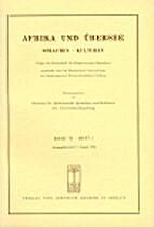 Afrika und Übersee 76 (1993) 1: 1-160