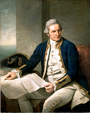 Author photo. wikipedia - James Cook, portrait by Nathaniel Dance, c. 1775, National Maritime Museum, Greenwich