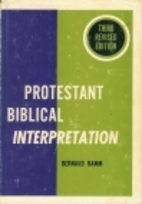 Protestant Biblical Interpretation: A…