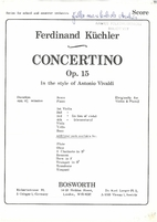 Concertino Op. 15 - In the style of Antonio…