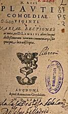 T. Macci Plauti Comoediae by Titus Maccius…