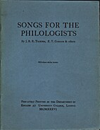 Songs for the Philologists by J.R.R. Tolkien