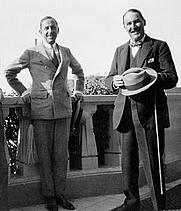 Author photo. Harry Burton [left] with Howard Carter [credit: The Kerala Articles]
