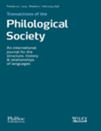 Transactions of the Philological Society 111…