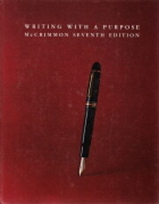 Writing with a Purpose by James M. McCrimmon