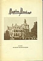 Maarten Maartens en het Maarten Maartenshuis…