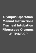 Olympus Operation Manual Instructions…