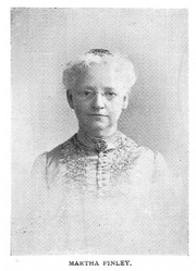 Author photo. Martha Finley [aka Martha Farquharson] (1828-1909) Buffalo Electrotype and Engraving Co., Buffalo, N.Y.