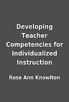 Developing Teacher Competencies for…