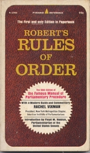 Robert's Rules of Order by Henry M.…