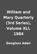 William and Mary Quarterly (3rd Series),…
