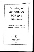 A History of American Poetry 1900-1940 by…