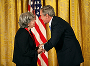 Author photo. Ruth Wisse receives the National Medal of the Arts, 2007.  White House photo by Eric Draper.