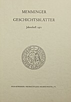 Memminger Geschichtsblätter Jahresheft 1971
