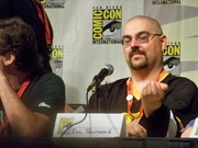 Author photo. DC Universe panel, San Diego Comic-Con International 2009, photo by Loren Javier