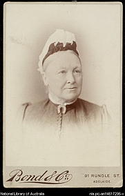 Author photo. Portrait of Catherine Helen Spence [picture] [189-?]. <br><a href=&quot;http://www.nla.gov.au&quot;>National Library of Australia</a>, nla.pic-an14617296