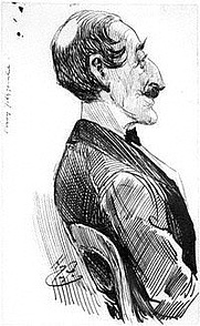 Author photo. Drawing of Percy Fitzgerald by Harry Furniss, c.1890. Wikipedia.