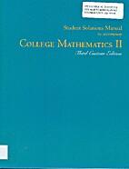College Mathematics II Student Solutions…