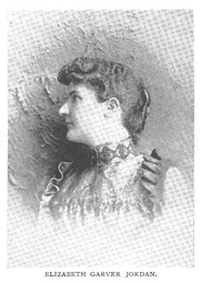 Author photo. Elizabeth Garver Jordan (1865-1947), Buffalo Electrotype and Engraving Co., Buffalo, N.Y.